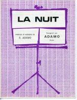 61-80 PARTITION ADAMO LA NUIT 1964 PATHÉ MARCONI PIANO GUITARE - Muziek & Instrumenten