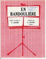 61-80 PARTITION ADAMO EN BANDOULIÈRE 1966 PIANO GUITARE - Musik & Instrumente