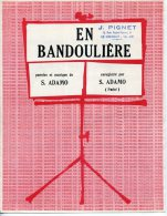 61-80 PARTITION ADAMO EN BANDOULIÈRE 1966 PIANO GUITARE - Muziek & Instrumenten
