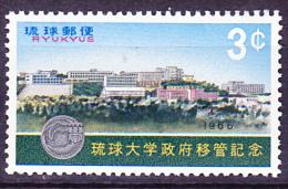 Ryu-Kyu-Inseln  - Universität In Shuri (MiNr: 174) 1966 - Postfr. MNH - Ryukyu Islands