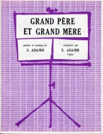 61-80 PARTITION ADAMO GRAND-PÈRE ET GRAND-MÈRE 1964 PIANO GUITARE - Musik & Instrumente