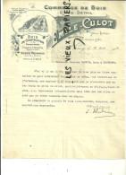 54 - Meurthe-et-moselle - NANCY - Facture CULOT - Commerce De Bois - Gros Et Détail – 1908 - REF 15 - 1900 – 1949