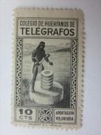 érinnophilie Vignette Espagne España COLEGIO DE HUERFANOS DE TELEGRAFOS APORTACION VOLUNTARIA - Erinofilia