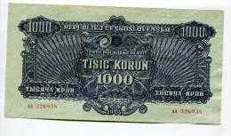 Tchécoslovaquie Czechoslovakia 1000 Korun 1944 XF SPECIMEN - Tchécoslovaquie