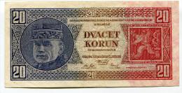 Tchécoslovaquie Czechoslovakia 20 Korun 1926 SPECIMEN - Czechoslovakia