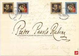 Carte-souvenir De L´Emission Commune Avec L´Allemagne - COB N° 3332HK - Noël Et Nouvel An - Cartoline Commemorative