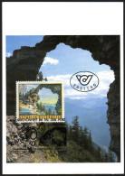ÖSTERREICH 1992 - Naturschönheiten / Hohler Stein In Vorarlberg - Maxikarte, MC - Sonstige