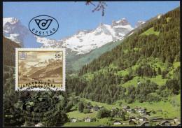 ÖSTERREICH 1987 - Naturschönheiten / Gauertal Montafon, Vorarlberg - Maxikarte MC - Sonstige