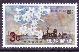 Ryu-Kyu-Inseln  - Schlacht Von Okinawa/Battle Of Okinawa/Bataille D'Okinawa (MiNr: 176) 1966 - Postfr. MNH - Ryukyu Islands