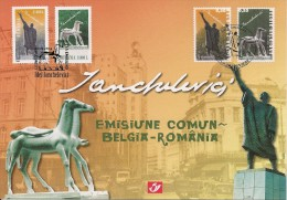 Carte-souvenir De L´Emission Commune Avec La Roumanie - COB N° 3308HK - Sculpteur Idel Ianchelevici (1909-1994) - Cartoline Commemorative