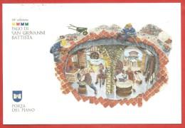 ITALIA REPUBBLICA CARTOLINA - 2012 - 18° Palio San Giovanni Battista Fabriano Porta Del Piano - Brunello Di Montalcino - 6. 1946-.. Repubblica