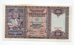 "Slovaquie Slovakia 50 Korun 1940 """" SPECIMEN """" UNC # 2 - Slovaquie"