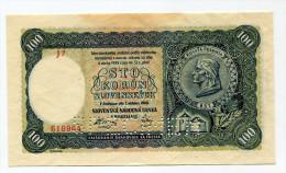 "Slovaquie Slovakia 100 Korun 1940 """" SPECIMEN """" UNC # 3 - Slovakia"