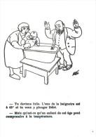 JUDAICA - Judaïsme, Humoristique, Bébé, Bain, CPSM | Judaism, Humorous, Baby, Bathtub - Judaika