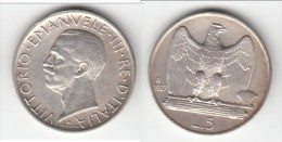 **** ITALIE - ITALIA - 5 LIRE 1927 VITTORIO EMANUELE III - ARGENT - SILVER **** EN ACHAT IMMEDIAT - 1861-1946 : Royaume