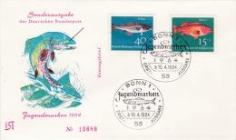 Germany FDC: 1964 Welfare Stamps Jugendmarken   (G69-76) - [7] Federal Republic