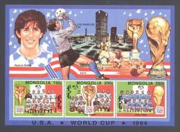 Mongolia - 1994 World Cup Block (2) MNH__(THB-4788) - Mongolia