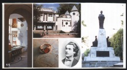 Topics-Monuments-Iasi-Mihai Eminescu Museum-Statue In Front Of The Library-15x8 Cm-unused,perfect Shape - Monuments