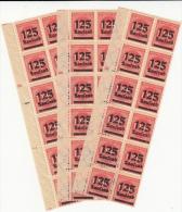 Schöne Abart (3 Vezes) Auf Dem Nr MI 291 ** / Drei Bogenrand Mit 12 Briefmarken 1923 Repetitive Abart - Unused Stamps