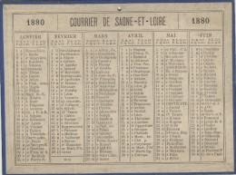 Calendrier 1880 15 X 20 Cm - Big : ...-1900