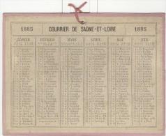 Calendrier 1885 15 X 20 Cm - Big : ...-1900