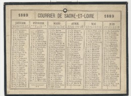 Calendrier 1889 15 X 20 Cm - Big : ...-1900