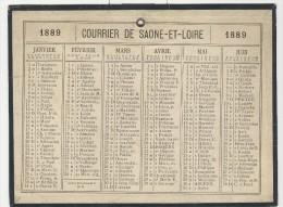 Calendrier 1889 15 X 20 Cm - Calendriers