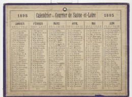 Calendrier 1895 15 X 20 Cm - Big : ...-1900