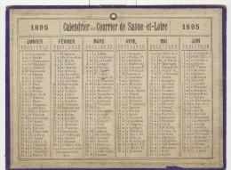 Calendrier 1895 15 X 20 Cm - Calendriers