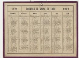 Calendrier 1898 15 X 20 Cm - Calendriers