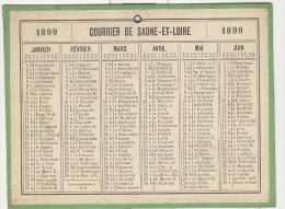 Calendrier 1899 15 X 20 Cm - Big : ...-1900