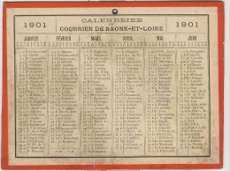 Calendrier 1901 15 X 20 Cm - Calendriers