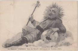 Cpa,carnaval De TOULON En 1909,sa Majesté Phébus,roi Du Soleil,photo MARIUS BAR,rare,1 Peit Coté Diable - Toulon