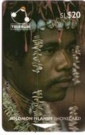 SALOMON SOLOMON MAN OF SANTA ANA ISLAND COQUILLAGE SHELL N° 02SDB.....20$  UT - Solomoneilanden