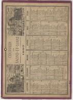 """Calendrier 1897 18,2 X 25,2 Cm Illustré """"Institut De France"""" """"Hotel De Ville Paris"""" """"Tour De Nesles"""" """"Bastille"""" - Big : ...-1900"""