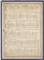 Calendrier 1892 16,8 X 22,5 Cm - Big : ...-1900