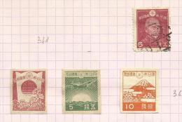 Japon N°342, 344 à 346 Cote 1.60 Euros - Oblitérés