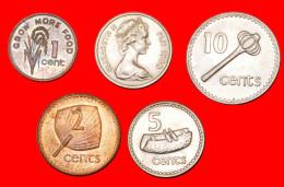 ★4 COINS★ FIJI★ 1-2-5-10 CENTS UNC! LOW START ★ NO RESERVE! - Fiji