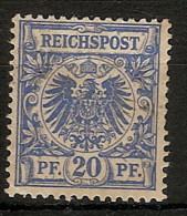 Alemania Imperio 048 * Foto Exacta. 1889. Charnela - Ungebraucht