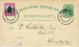 SOUTH AFRICA 1931 - 1/2 P Ganzsache + 1 D ZF Auf Pk V.Rouxville > Kimberley - Südafrika (...-1961)
