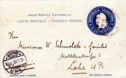 ARGENTINA 1901 - 6 Centavos Ganzsache V.Buenes Aires > Lahr - Argentinien
