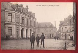 DFM-06  Noyen PLace De La Mairie, Militaires. Cachet 1920 - Francia