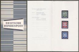 "Bund : Minister Card - Ministerkarte Typ III, Mi-Nr. 350, 352, 355: "" DS Bedeutende Deutsche - Dürer, Bach, Lessing ""  X - [7] Repubblica Federale"