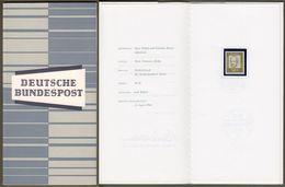 """Bund : Minister Card - Ministerkarte Typ III, Mi-Nr. 360: """" Dauerserie Bedeutende Deutsche - Franz Oppenheimer """"      X - BRD"""