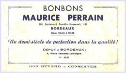 - BUVARD -  Bonbons Maurice PERRAIN Bordeaux TTB Alimentaire - Food