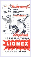 "- BUVARD -  Tampon "" LIONEX ""petit Pli - Produits Ménagers - Wash & Clean"
