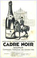 - BUVARD -  Saumur Cadre Noir     - Vin Produits Alimentataires - Food