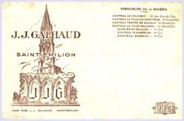 - BUVARD - VIGNOBLES  J J GALHAUD - Château Le Couvent ... Petits Plis - Vins Produits Alimentaires - Food