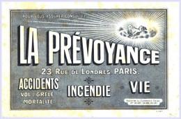 Buvards -Buvard - La Prevoyance - Accidents Incendie Vie - Paris - Petites Rousseurs Et Petit Pli - Buvards, Protège-cahiers Illustrés