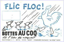 Buvards -Buvard - Flic Floc! Les Bottes Au Coq De L'eau Se Moquent  -micro Plis - Textile & Vestimentaire